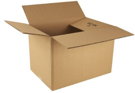 Flat pack cardboard box