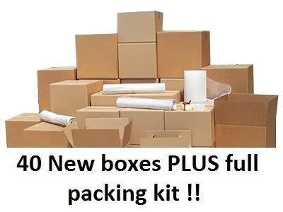 moving boxes with packing kits