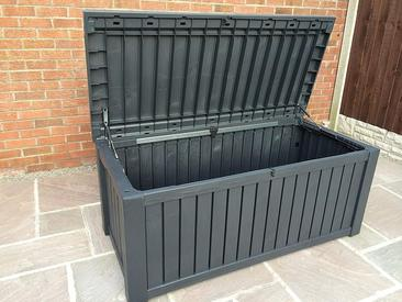 Keter Anthracite Rockwood Jumbo - Garden Storage Box