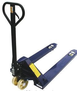 LoadSurfer 2500kg Wide Hand Pump Push Pallet Truck Jack Trolley